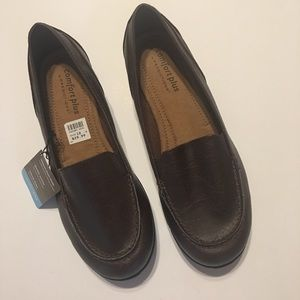Size 10w Comfort Plus Brown Loafers NWT
